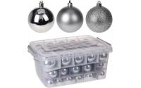 [Sada 70 ks plastových vánočních koulí v úložném boxu - různé barvy]