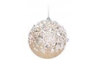 [Zlatá vánoční koule s kamínky 7,5cm]