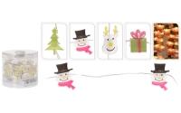 [Světelný řetěz na baterky s 20 mini LED a vánočními figurkami]