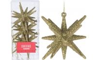 [Sada 3 ks zlatých závěsných vánočních hvězd]