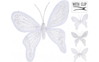 [Dekorační motýl na skřipci bílý 15 cm - různé druhy]