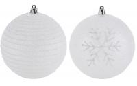 [Ledová vánoční koule s třpytkami 10 cm - 2 druhy]