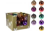 [Plastová vánoční koule 12 cm - různé barvy]