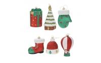 [Vánoční figurky s třpytkami 12 cm - různé druhy]