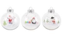 [Vánoční koule barevná se sněhovými bublinkami - různé druhy]