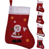 [Mikulášská ponožka s vánočním obrázkem]