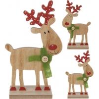 [Dřevěný vánoční sob 18 cm - 2 druhy]