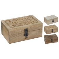 [Dřevěná šperkovnice s kovovým zámkem - 3 druhy]