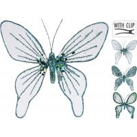 [Dekorační motýl na skřipci modrý 15 cm - různé druhy]