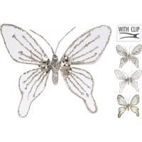 [Dekorační motýl na skřipci zlatý 15 cm - různé druhy]