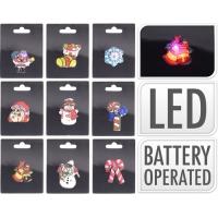 [Blikající kovový odznak s LED světýlkem - různé druhy]