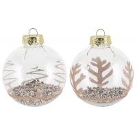 [Vánoční koule s třpytkami - různé druhy]