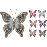 [Dekorační motýl na skřipci barevný 20 cm - různé druhy]