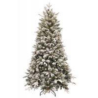 [Vánoční stromek EMERALD ROSEMARY se šiškami - zasněžený z měkkého 3D jehličí]