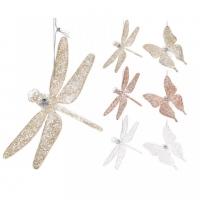 [Dekorační vážky a motýli 12 cm - různé druhy]