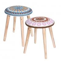 [Židle MANDALA s barevným motivem - různé barvy]