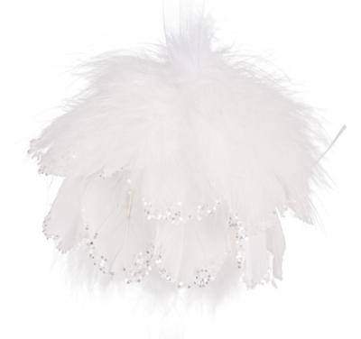 Andělská vánoční koule bílá URIEL