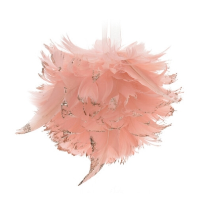 Andělská vánoční koule růžová MICHAEL