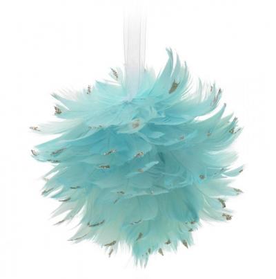 Andělská vánoční koule modravá RAFAEL