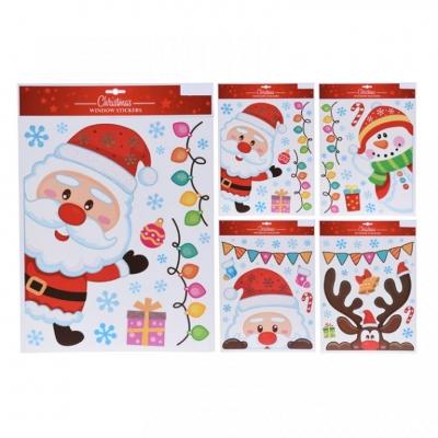 Barevné vánoční nálepky - různé druhy