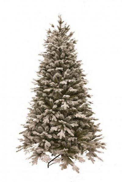 Vánoční stromek FLOCK NOBLE - zasněžený z měkkého 3D jehličí
