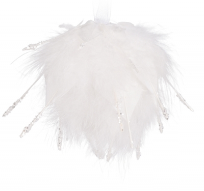 Andělská vánoční koule bílá GABRIEL
