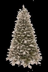 [Vánoční stromek FLOCK NOBLE - zasněžený z měkkého 3D jehličí]